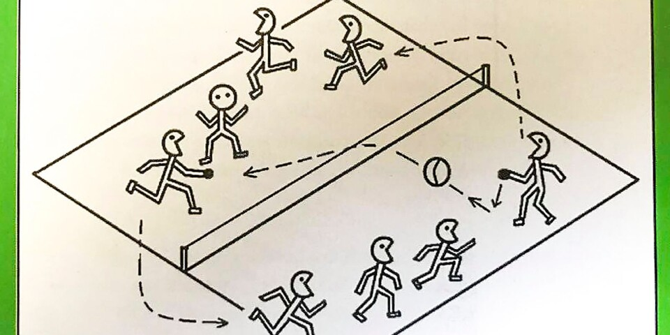 Wilfrieds material innehåller illustrationer och beskrivningar av ett 40-tal olika idrottslekar, bland annat Hit'n-run'n-jump, en variant av prellball.