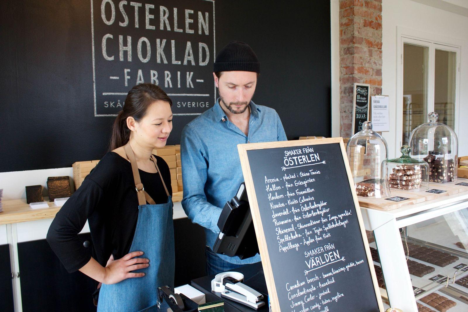 Chokladfabriken i Skåne Tranås är öppen onsdag - fredag klockan 11-17, lördag och söndag klockan 10-15.