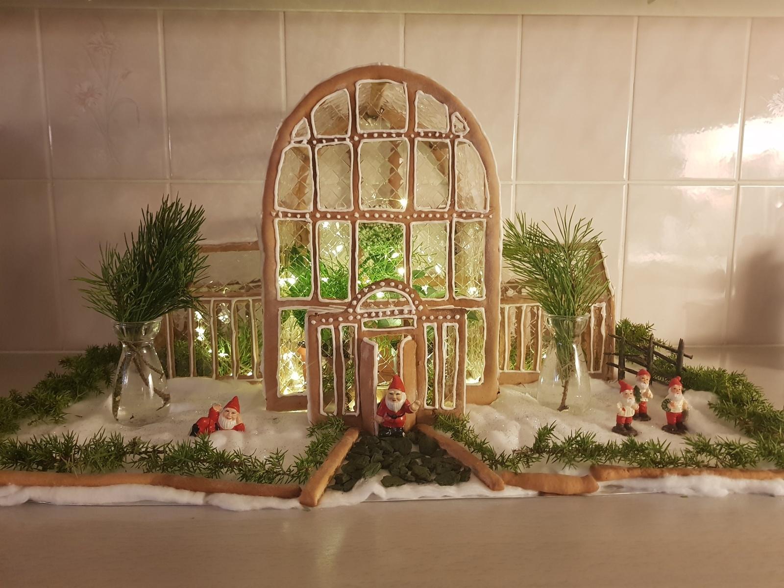 """Julia Hammare och hennes pappa Lars har byggt """"Palmhuset"""" som ligger i Trädgårdsföreningen i centrala Göteborg."""
