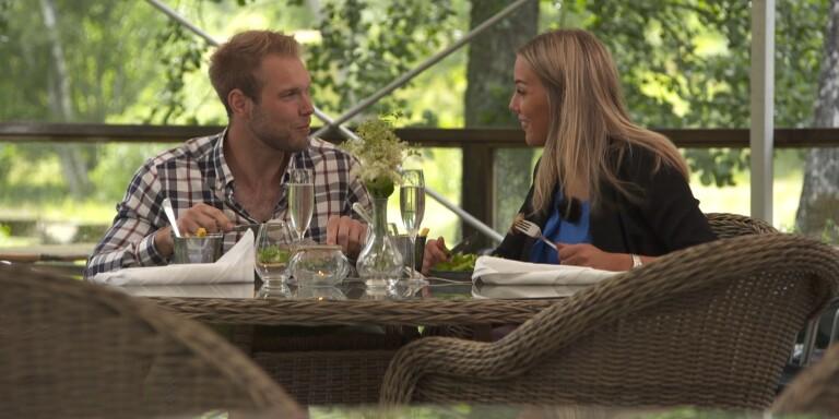 """Känsloladdat med tv-bonden – """"Det är bästa dejten jag varit på"""""""