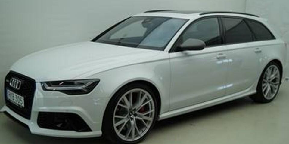 Polisen är intresserade av uppgifter gällande en Audi RS6 som ser ut som den på bilden.