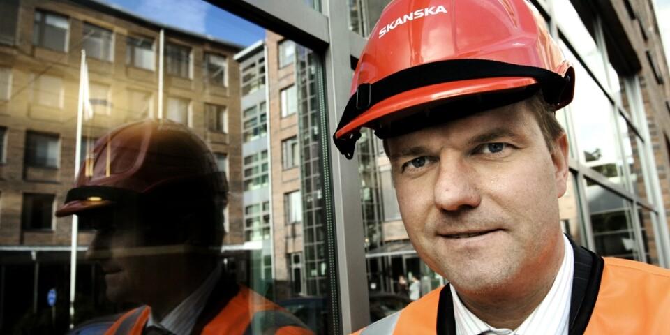Skanskas vd Anders Danielsson väntar på bonusbetalning. Arkivbild.