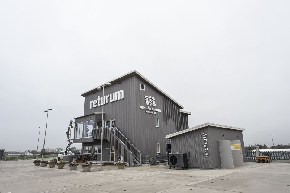 Returum is the largest recycling centre in Kristianstad municipality.