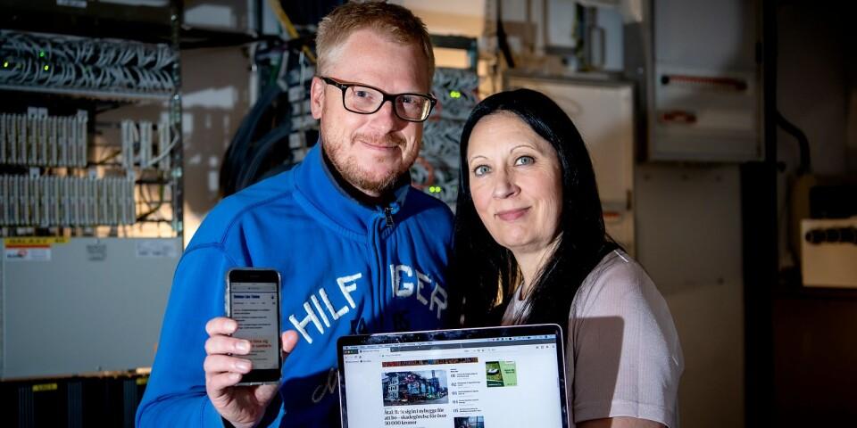 Jens Olander, digitalchef, och Mimmi Karlsson Bernfalk chefredaktör, visar hur BLT ser ut efter den senaste uppdateringen. Du läser våra nyheter smidigt, i din telefon eller på din dator. Och just nu har vi ett extra bra erbjudande till dig som ännu inte är prenumerant.