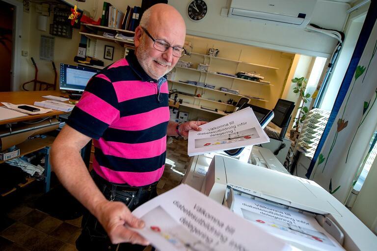 Vaktmästeriföreståndare Lars Åberg slutar om drygt en vecka efter 42 år på Bromölla kommun.