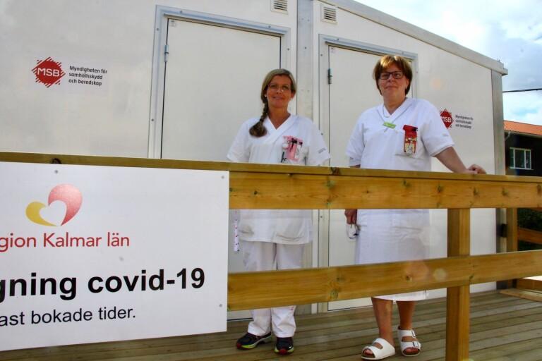 Covidbarack på plats i Torsås – så fungerar provtagningen