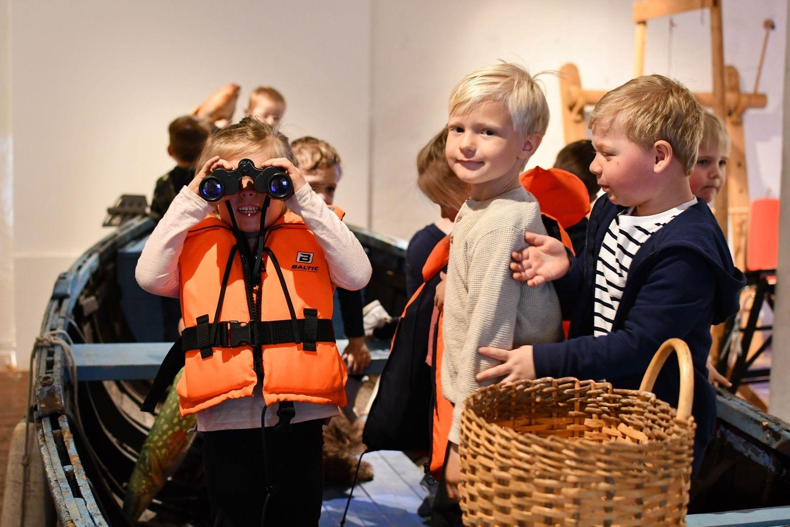 Efter vernissagen blev det tid för en stunds lek i Skrabban, museets avdelning för barn.