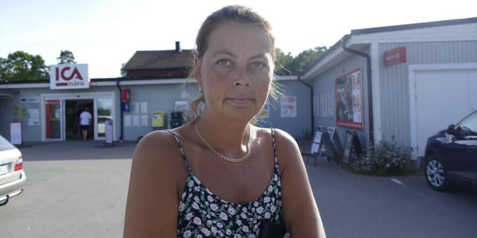 Helene Grön cyklade förbi butiken strax innan rånet inträffade.