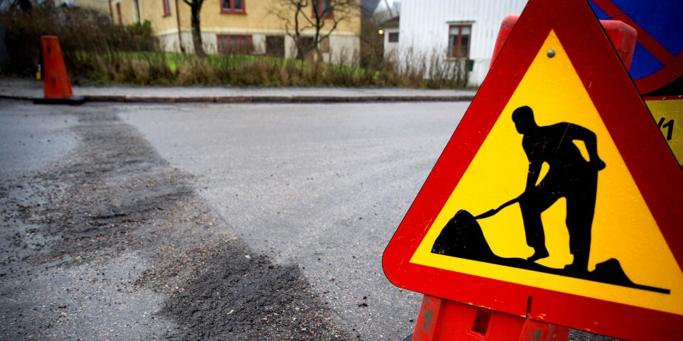 Vägarbete genomförs denna veckan i Växjö.