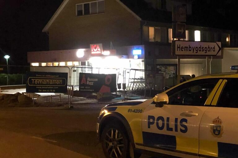 Dagen efter väpnade rånet mot Ica i Påryd – butiken stängd