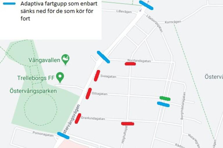 Skribentens förslag till åtgärder för säkrare trafik i Granlundaområdet.