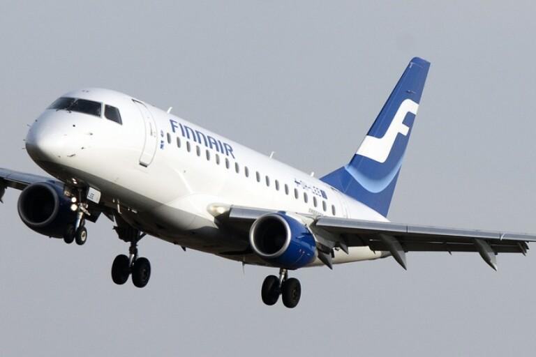 Ett av Finnairs plan på väg in för landning på Arlanda. Arkivbild.