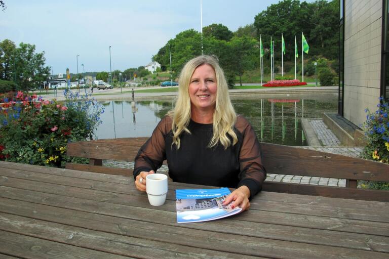 – Kaffe är ett viktigt verktyg för att få igång ett samtal, säger Angelica Coleman, näringslivsutvecklare på Ronneby kommun.