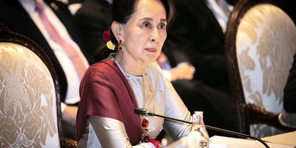 Aung San Suu Kyi har valt att representera Myanmar när anklagelserna om folkmord tas upp i Internationella domstolen (ICJ) i Haag. Arkivbild.