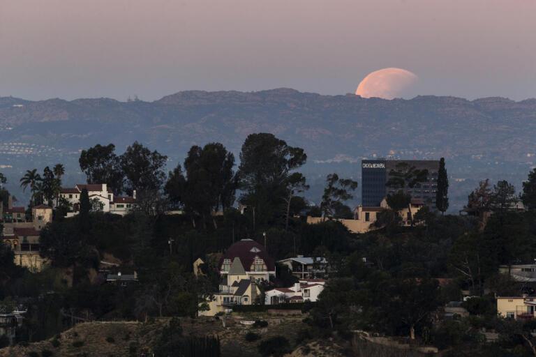 Hollywood Hills i Los Angeles, Kalifornien. Arkivbild.