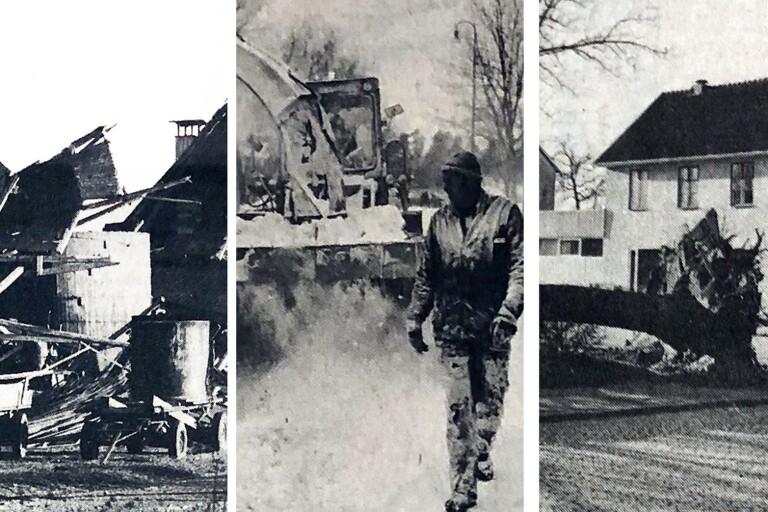 DOKUMENT: Stor förödelse när orkan slog mot Kalmar län 1973