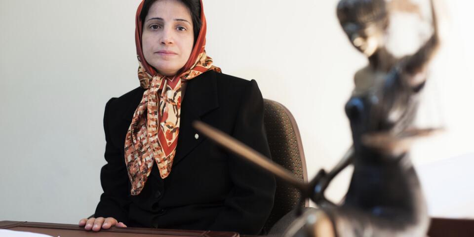 Människorättsaktivisten och advokaten Nasrin Sotoudeh i ett foto från 2008. Arkivbild.