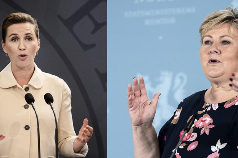 Danmark och Norge har gjort upp om resor mellan länderna från den 15 juni, säger statsministrarna Mette Frederiksen och Erna Solberg.