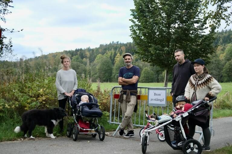 """De kämpar för en ny bro i Uddebo: """"Hela bylivet blir påverkat"""""""