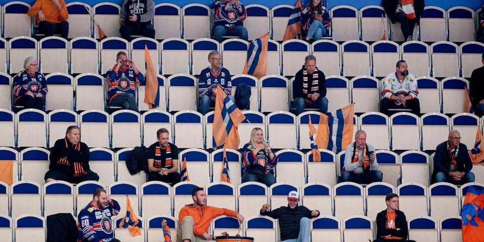Genrebild på publik under en ishockeymatch.