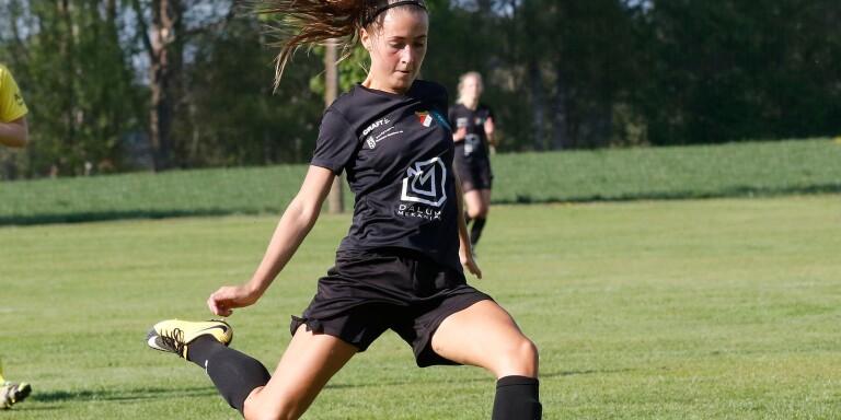 Josefine Notaro gör ett av sina 33 mål i 2019 års seriespel.