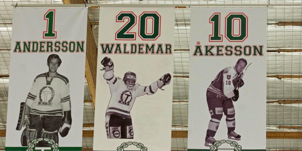 Stjärnklart i taket. Christer Andersson, Roger Waldemar och Anders Åkesson – ur-Taif-are med sammanlagt drygt 1500 seriematcher under totalt 54 A-lagssäsonger.