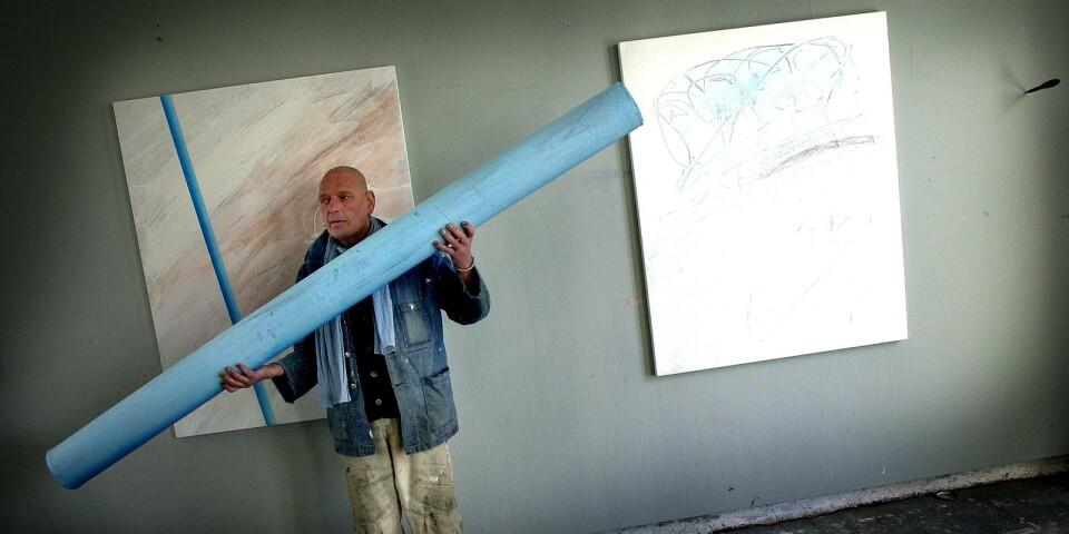 Curt Hillfon (1943-2018) under arbetsprocessen.