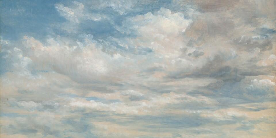 """I molnen kan vi finna både livet och konsten. John Constables målning """"Clouds"""" från 1822 är ett av de konstverk som avhandlas i Elisabet Haglunds bok."""