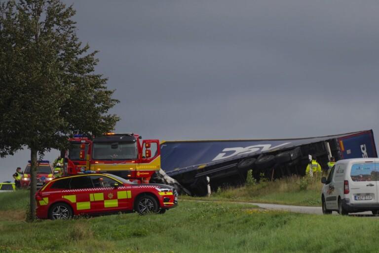 En person avliden efter olycka på E22