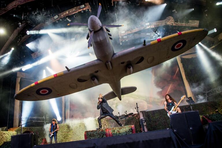 Iron Maiden på Festival Stage under Sweden Rock Festival.