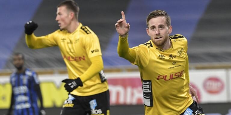 Rasmus Alm nickade in målet till 1–1 borta mot Sirius.
