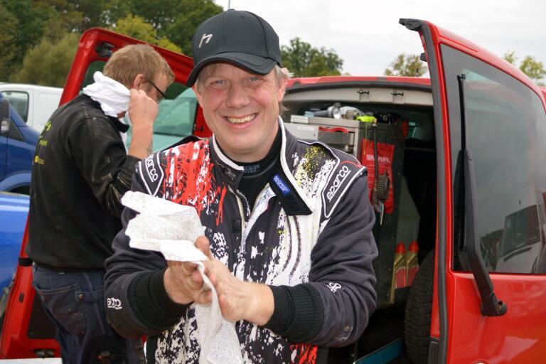 Blekingefostrade Mattis Olsson, Gullabo RC, hade all anledning se nöjd ut efter en tredjeplats i SM-rallyt i Hässleholm.