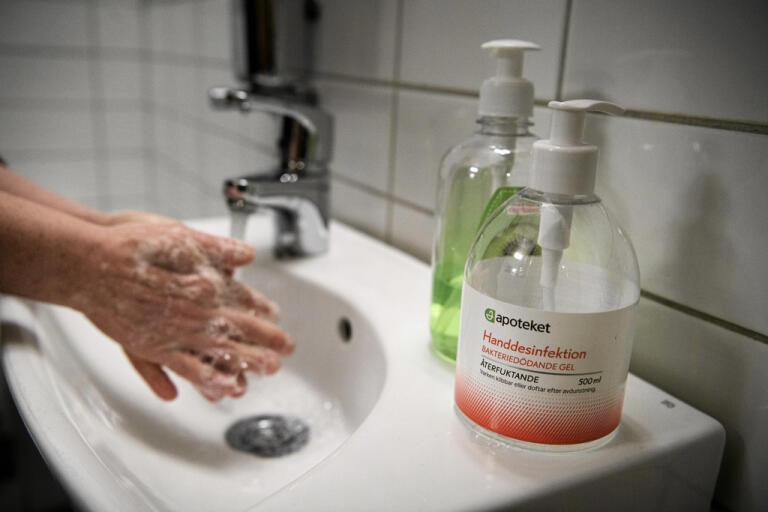 Efter svininfluensan ökade konsumtionen av handsprit. Arkivbild.