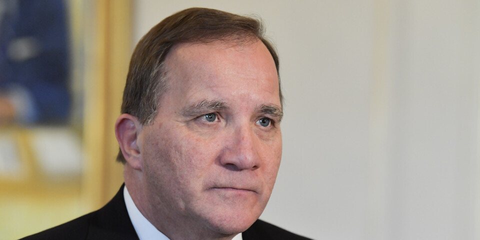 Prime Minister Stefan Löfven (S) has isolated himself due to the corona infection. Stock image.