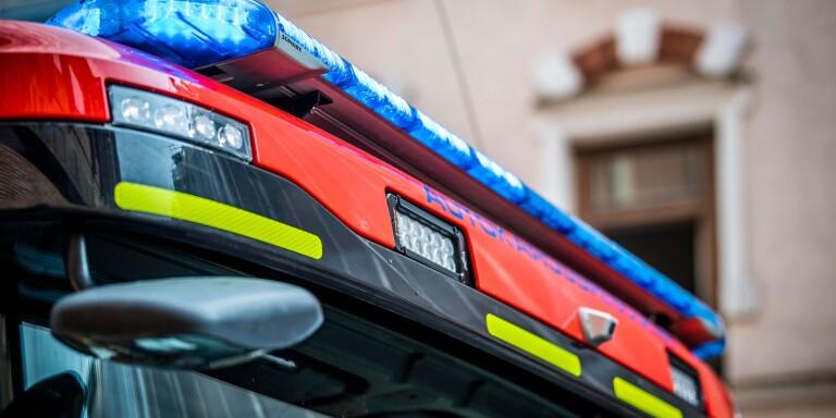 Blåljus brandbil räddningstjänsten brand