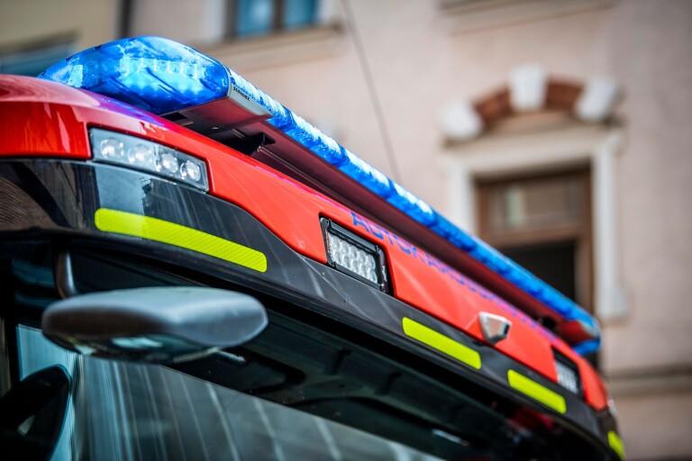 Brand i flerfamiljshus i Växjö