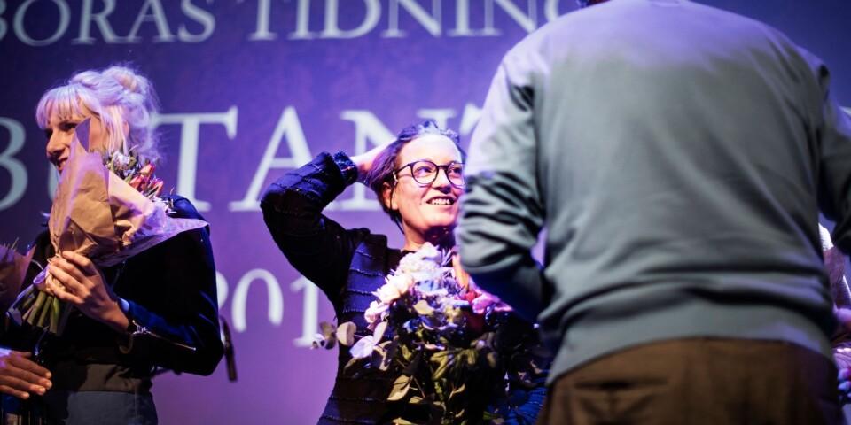 """Agnes Lidbeck vann Borås Tidnings debutantpris med """"Finna sig"""", i konkurrrens med bland andra Isabelle Ståhl till vänster."""