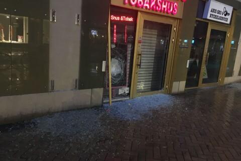 Flera butiker drabbades av explosionen