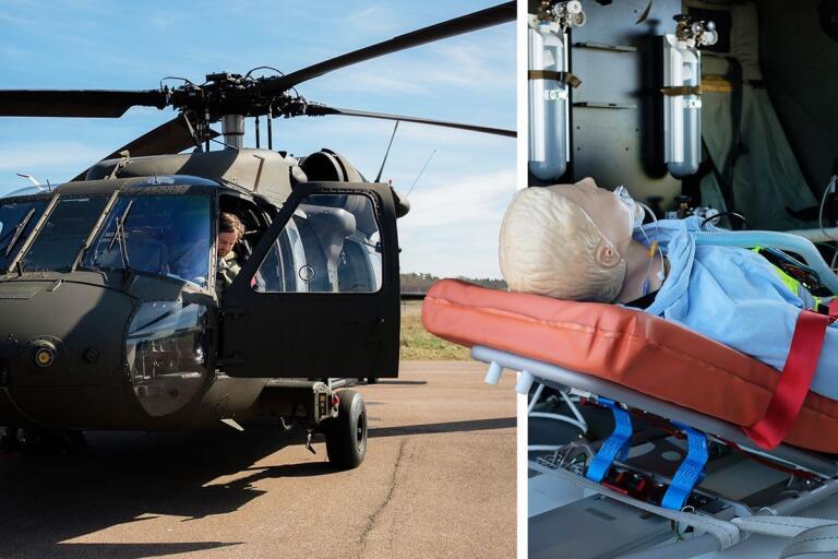 Bara tre vändor till Säs för Blackhawk-helikopter