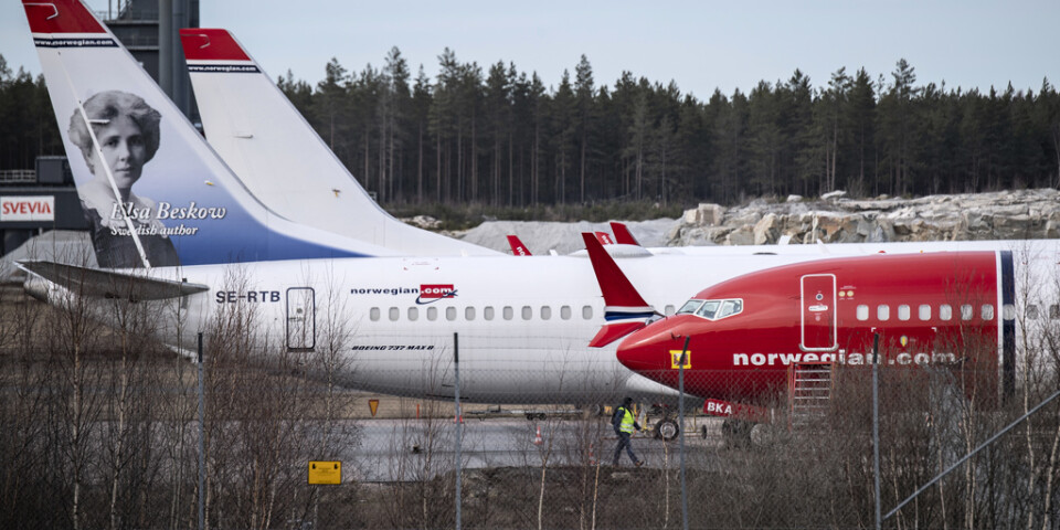Flygbranschen är hårt drabbad av coronakrisen. Norska Norwegian har lagt fram en krisplan som får aktien att störtdyka på Oslobörsen. Arkivbild.