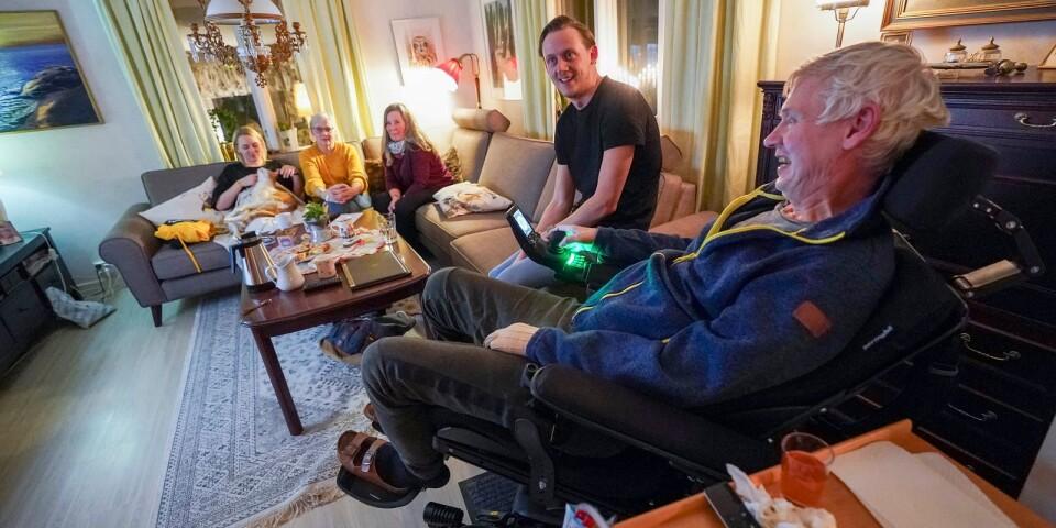 Familjen samlad i samband med Ola Andreasson födelsedag.
