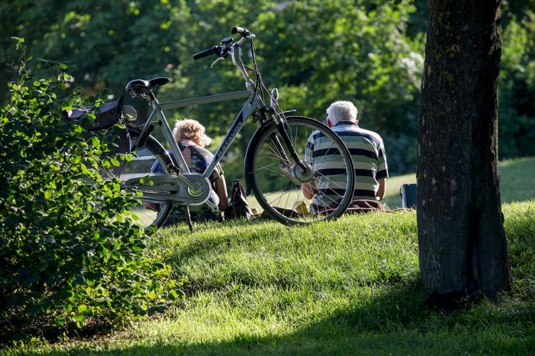 Även cykeln fungerar för att göra resan tillbaka till landet.