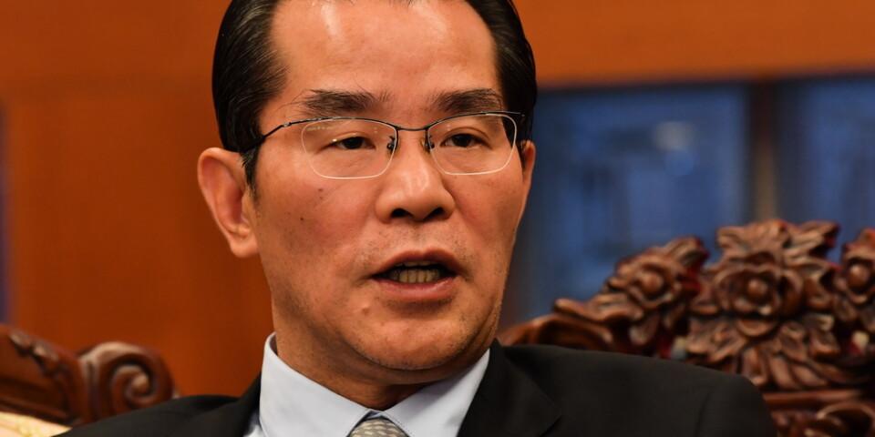 Kinas ambassadör Gui Congyou hotar med handelskonsekvenser för Sverige. Arkivbild.