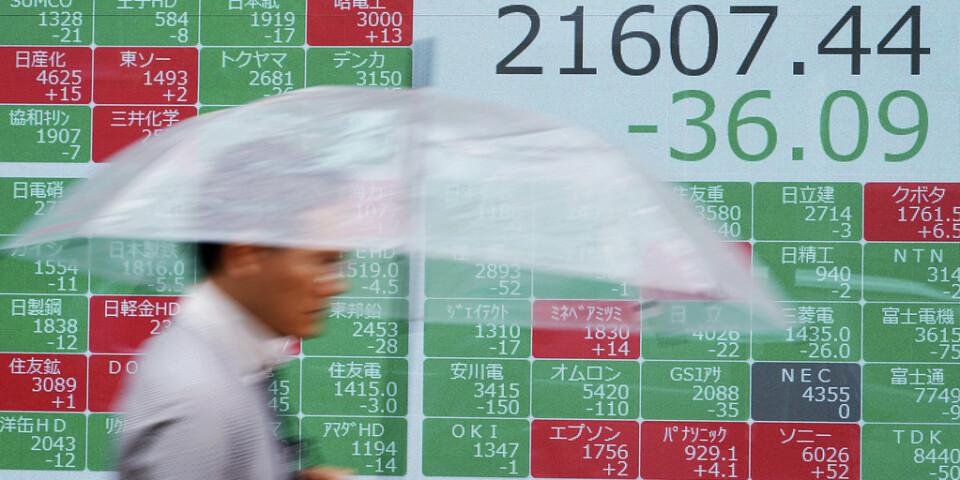 Börserna i Asien rörde sig marginellt i tisdagens handel. Arkivbild.
