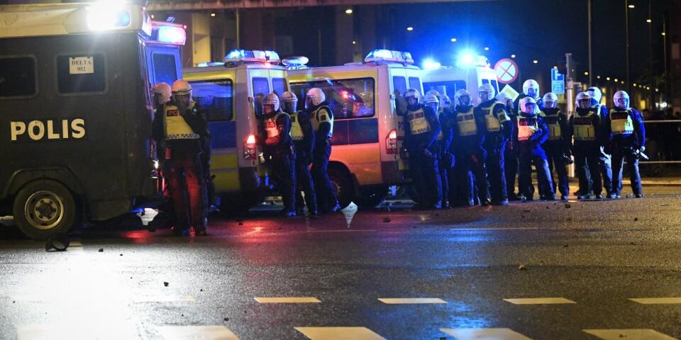 Antisemitiska slagord skanderades under upploppet i Malmö.