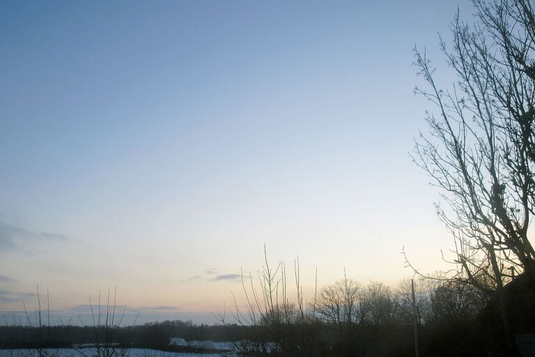 Det svaga vinterljuset dröjer sig kvar allt längre för varje dag som går.