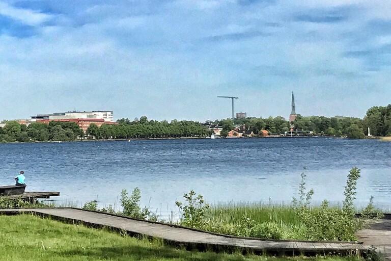 Arbete vid Växjösjön – kan påverka förbipasserande