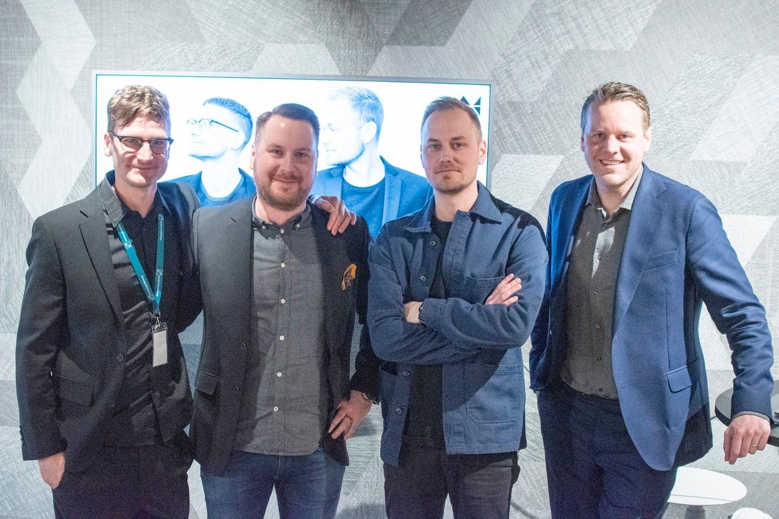 John Sävesjö, Joel Friberg, Kifab, Johan Vilestål och Fredrik Genberg på Tengbom.