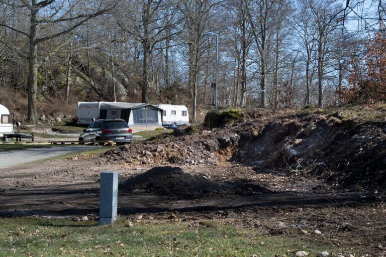 Några ställplatser har blivit djupare än tidigare för att få plats med större vagnar.
