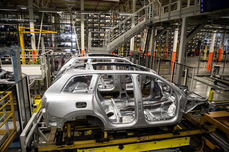 Volvo Cars försäljning i maj backade med 25,5 procent jämfört med i fjol. Arkivbild.